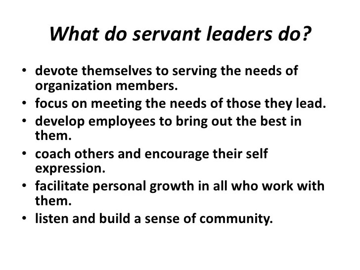 Servant Leadership Essay Servant Leadership Com The Power Of Servant