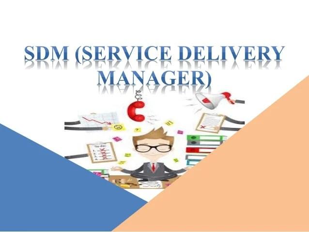Service Delivery Manager  Job Description