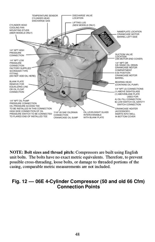 copeland compressor oil system diagram