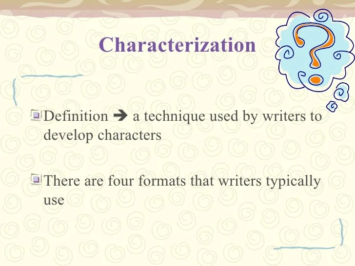 define direct characterization