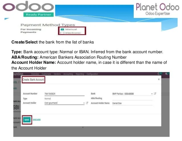 Setting Up Your Bank Account In Odoo