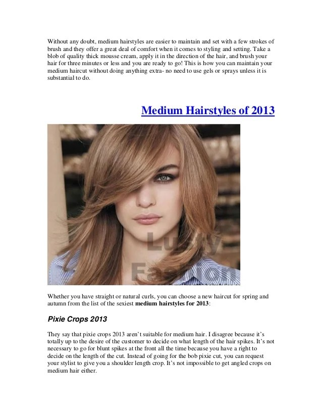 sexy medium hairstyles 2013