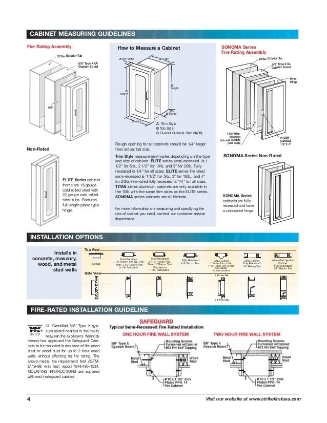4 El Elite Architectural Series Fire Extinguisher Cabinets