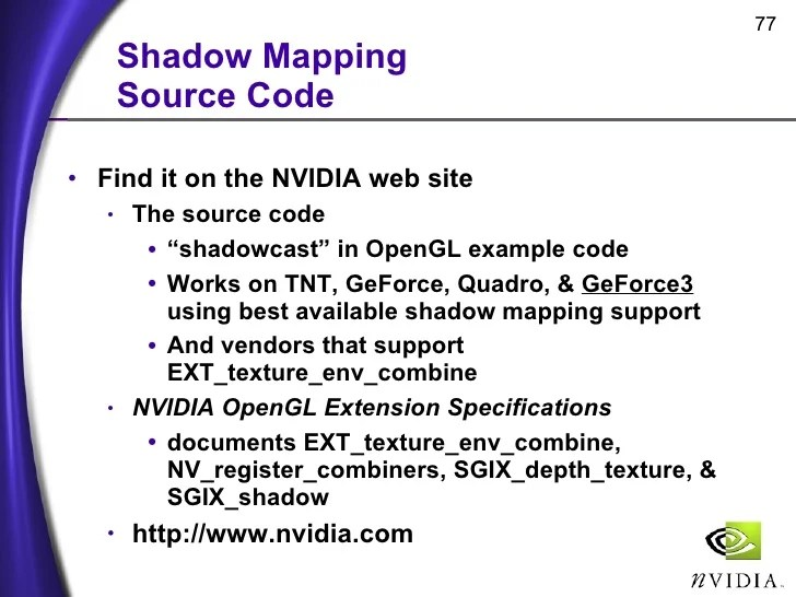 Shadow Mapping with Today39s OpenGL Hardware