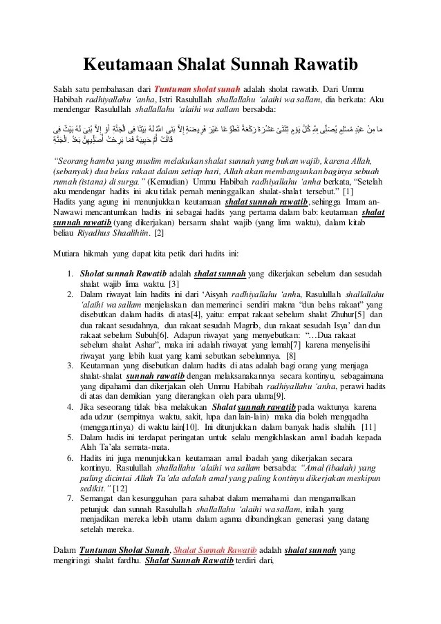 Apa Itu Sholat Rawatib : sholat, rawatib, Shalat, Sunnah, Rawatib