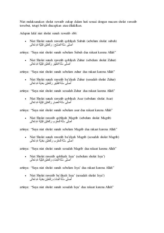 Niat Shalat Rawatib : shalat, rawatib, Shalat, Sunnah, Rawatib
