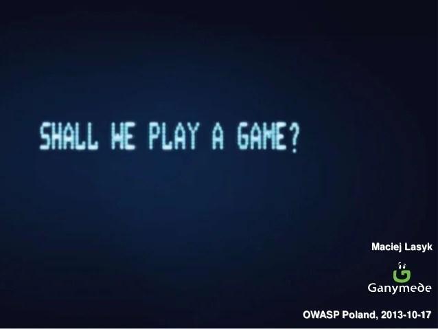shall we play a