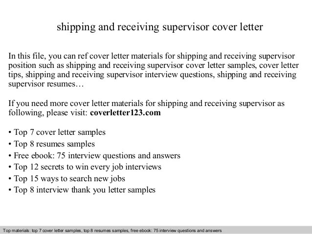 Cover Letter Receiving Inspector