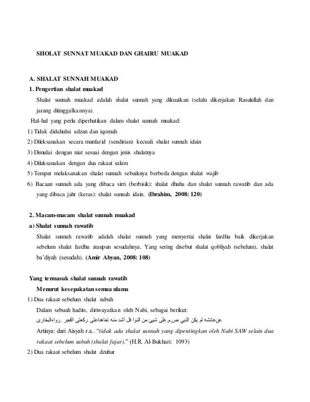 Rawatib Muakkad Adalah : rawatib, muakkad, adalah, Sholat, Sunnat, Muakad, Ghairu