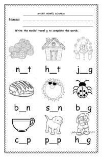 Short vowel sounds worksheets