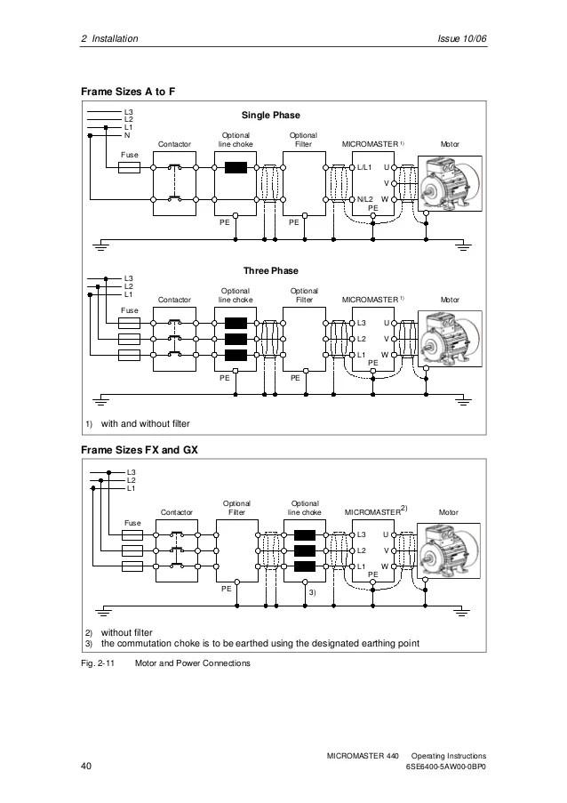 siemens micromaster 440 control wiring diagram