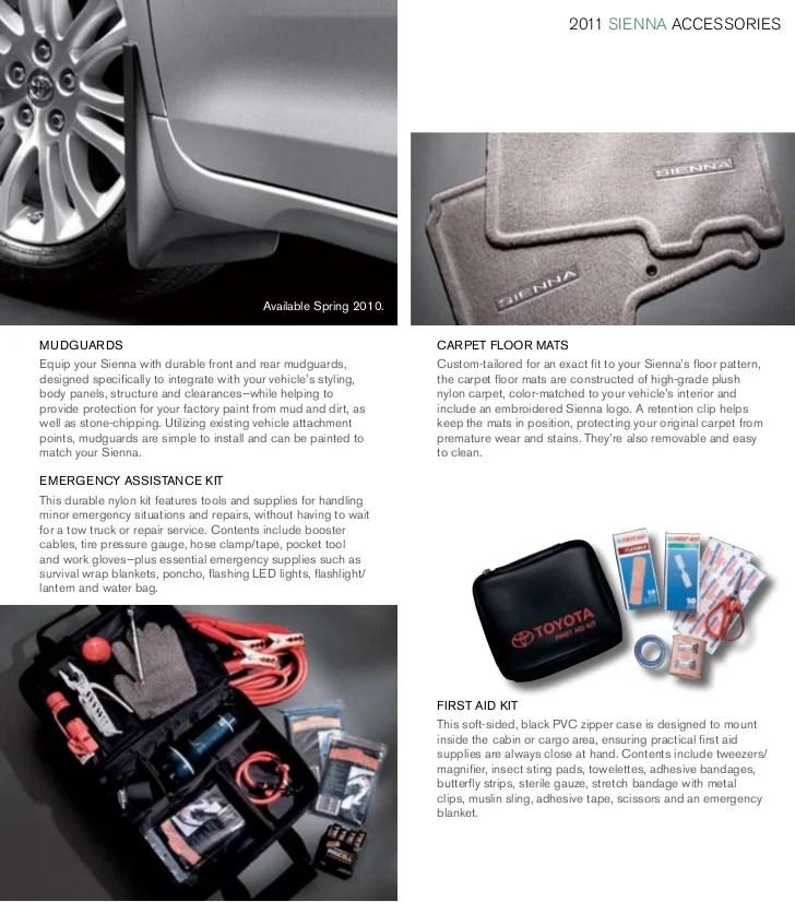 2011 Toyota Sienna Accessories