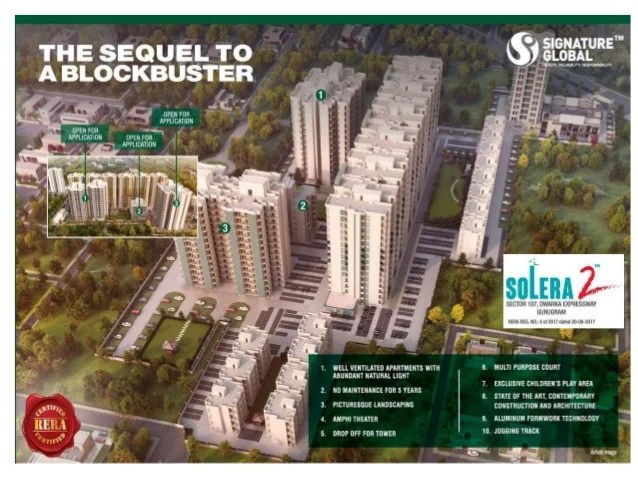 Signature Builders Pvt. Ltd or Signature Global Pvt. Ltd 9th HUDA Affordable Housing Projects Signature Global SOLERA 2 se...