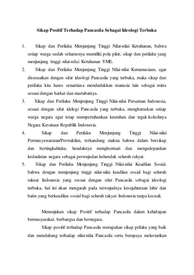 Sikap Positif Terhadap Pancasila : sikap, positif, terhadap, pancasila, Sikap, Positif, Terhadap, Pancasila, Sebagai, Ideologi, Terbuka