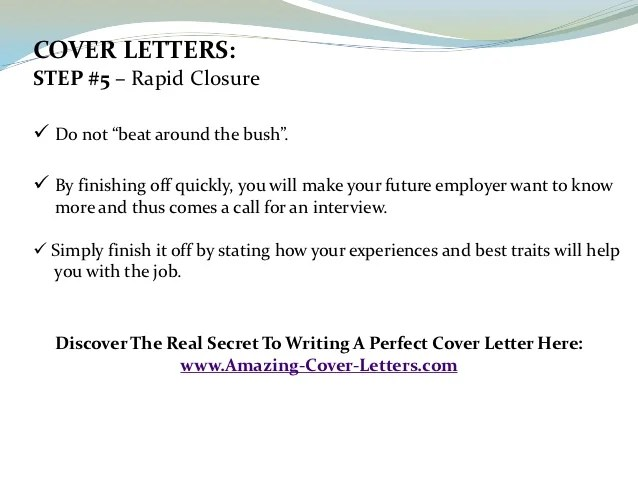 teaching job cover letters