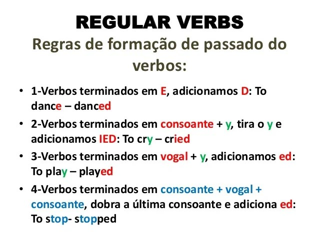 And Exercises Verbs Regular Irregular