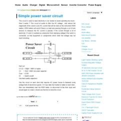 Home Power Saver Circuit Diagram John Deere 425 Fuel Pump Wiring Simple Online Schematic Board Design
