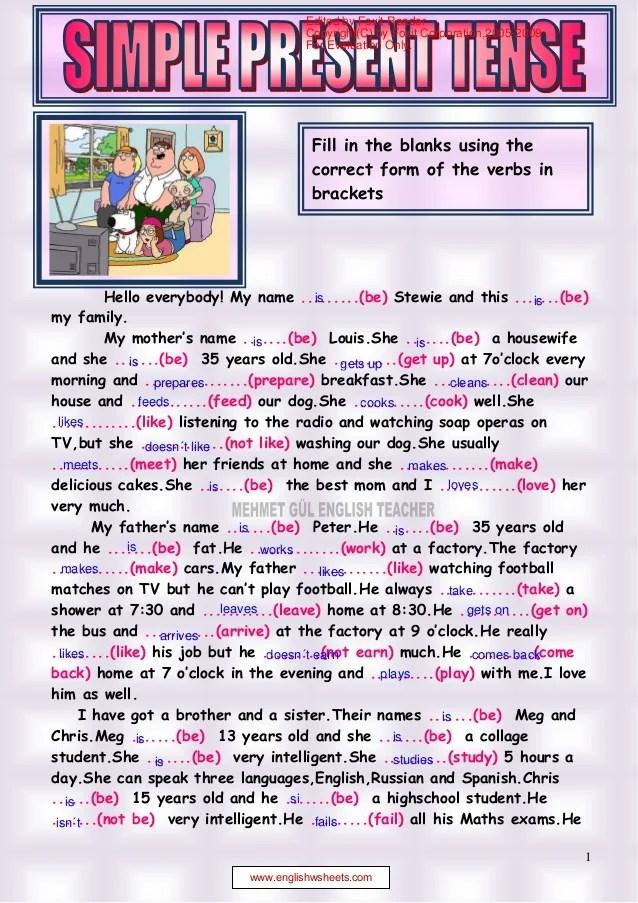 Contoh Present Tense : contoh, present, tense, Simple, Present, Tense, Reading