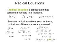 Simplifying Radical Expressions Worksheet Key - simplify ...