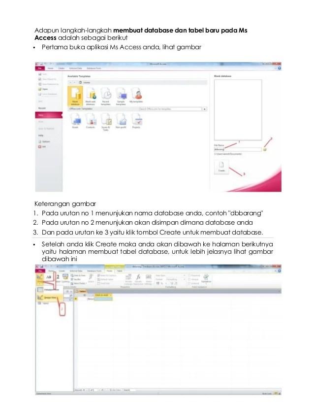 Cara Membuat Database Dengan Microsoft Access 2010 Cute766