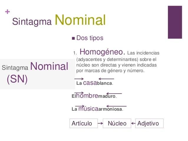 Sintagmas nominal y verbal