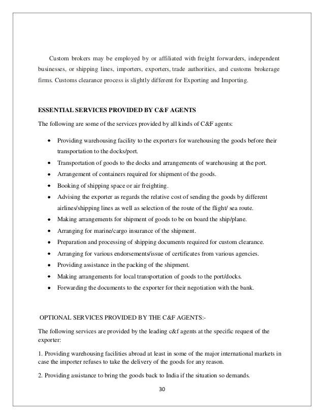 customs broker resume
