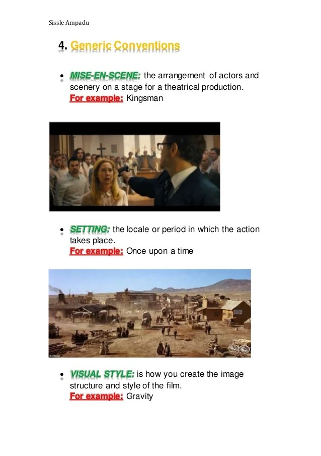 Narrative Structure Codes And Conventions Of A Fictional Film