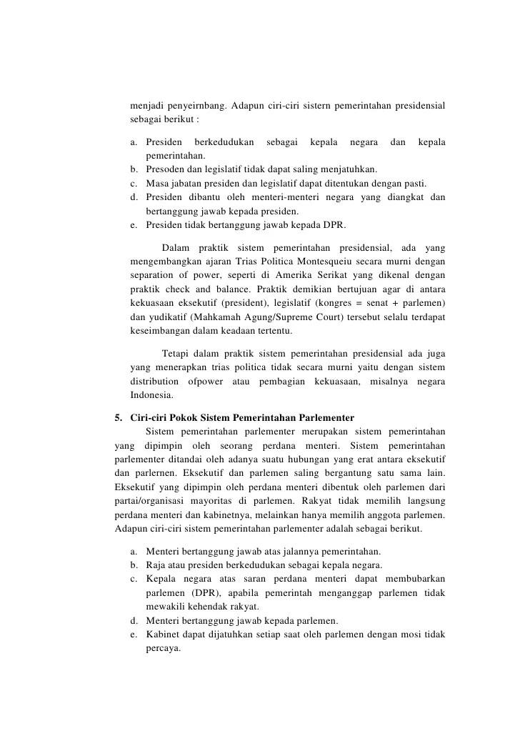 Ciri Ciri Pemerintahan Presidensial Dan Parlementer : pemerintahan, presidensial, parlementer, Sistem, Pemerintahan
