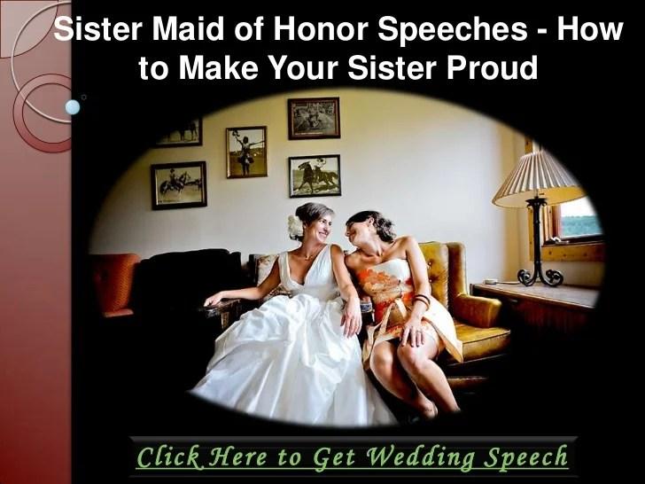 Sister Wedding Toast Samples