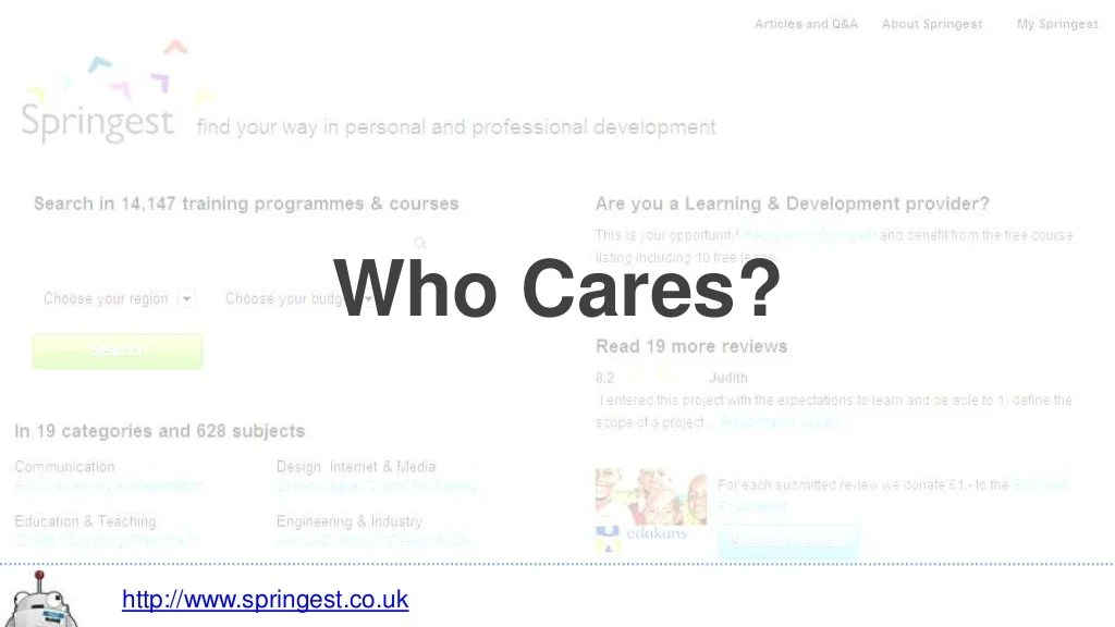 Who Cares?http://www.springest.co.uk
