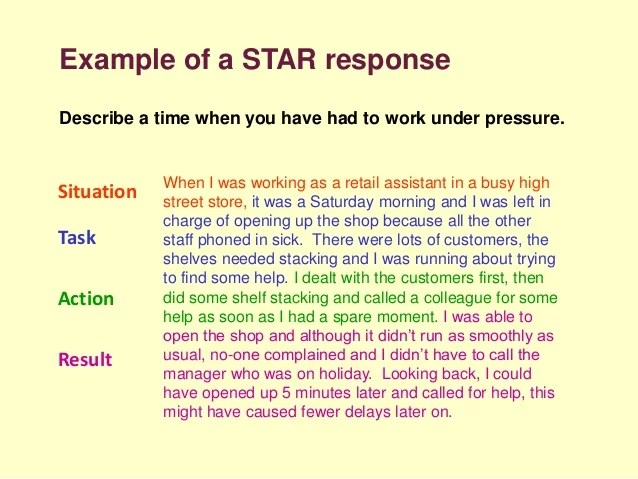 situation action result resume examples simple instruction guide