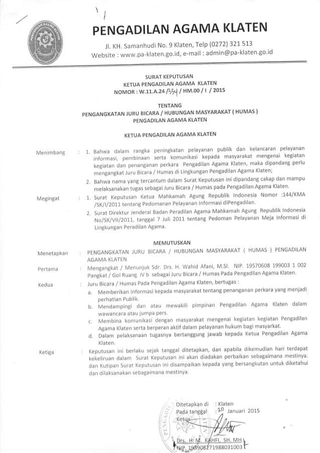 Surat Pengangkatan Direktur : surat, pengangkatan, direktur, Pengangkatan, Humas