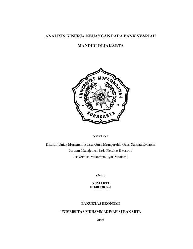 Judul Skripsi Perbankan Syariah : judul, skripsi, perbankan, syariah, Skripsi, Analisis, Kinerja, Keuangan, Syariah