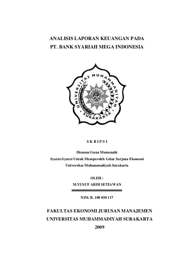 Judul Skripsi Perbankan Syariah : judul, skripsi, perbankan, syariah, Skripsi, Analisis, Laporan, Keuangan