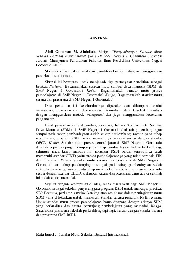 Contoh Abstrak Skripsi Manajemen Informatika Contoh Su Cuitan Dokter