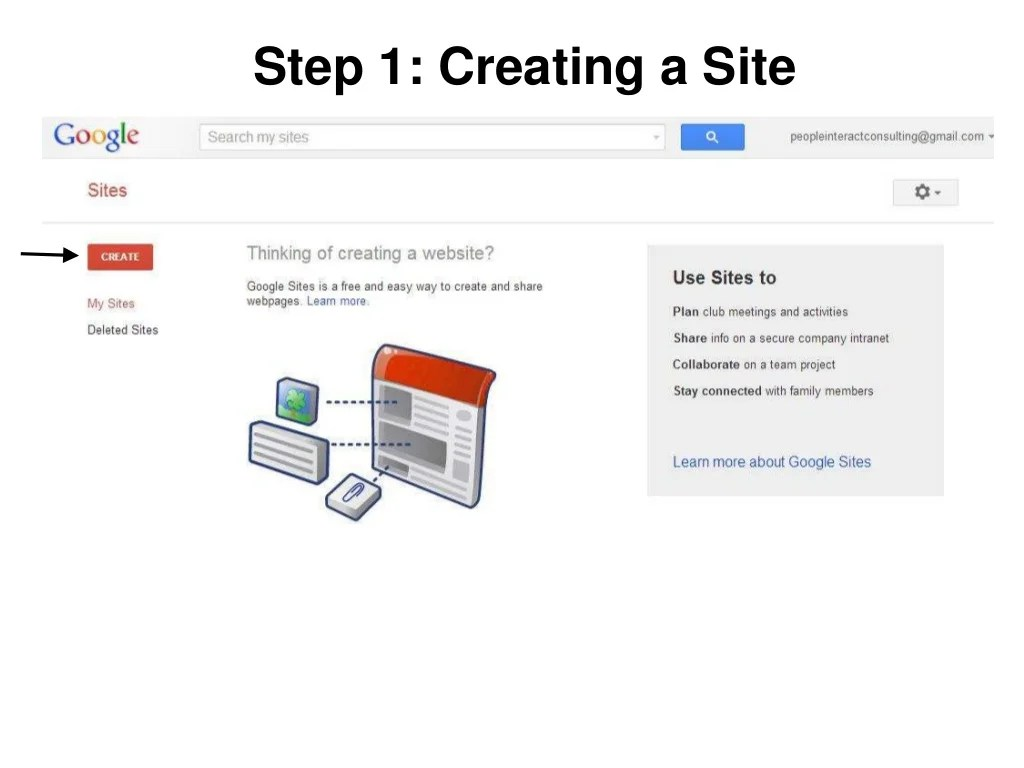 Step 1: Creating a Site