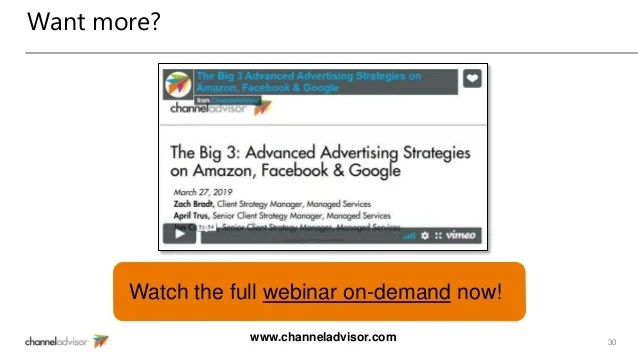 The Big 3 Advanced Advertising Strategies On Amazon