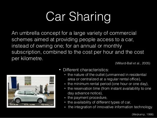 Carsharing Ridesharing Carpooling And All
