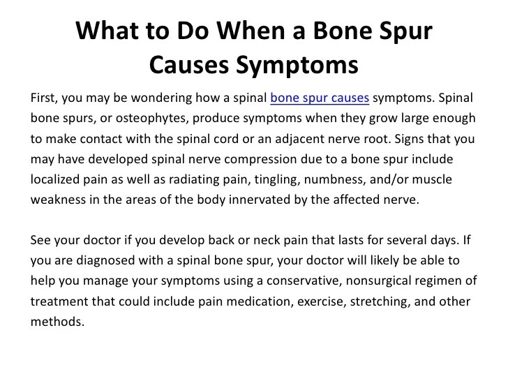 Bone Spur Causes