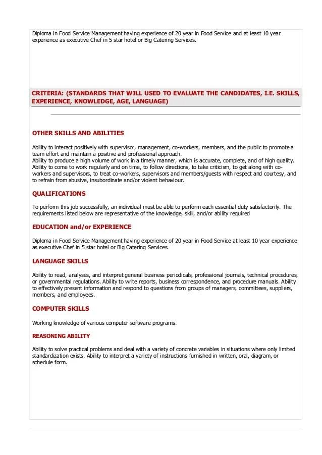 Food Service Job Description And Duties | Foodfash.co
