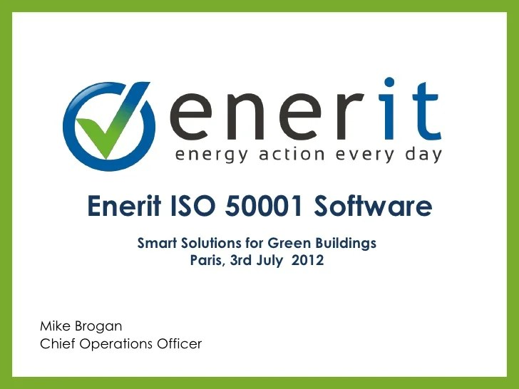 Smart Solutions For Green Buildings Enerit Iso 50001 Software