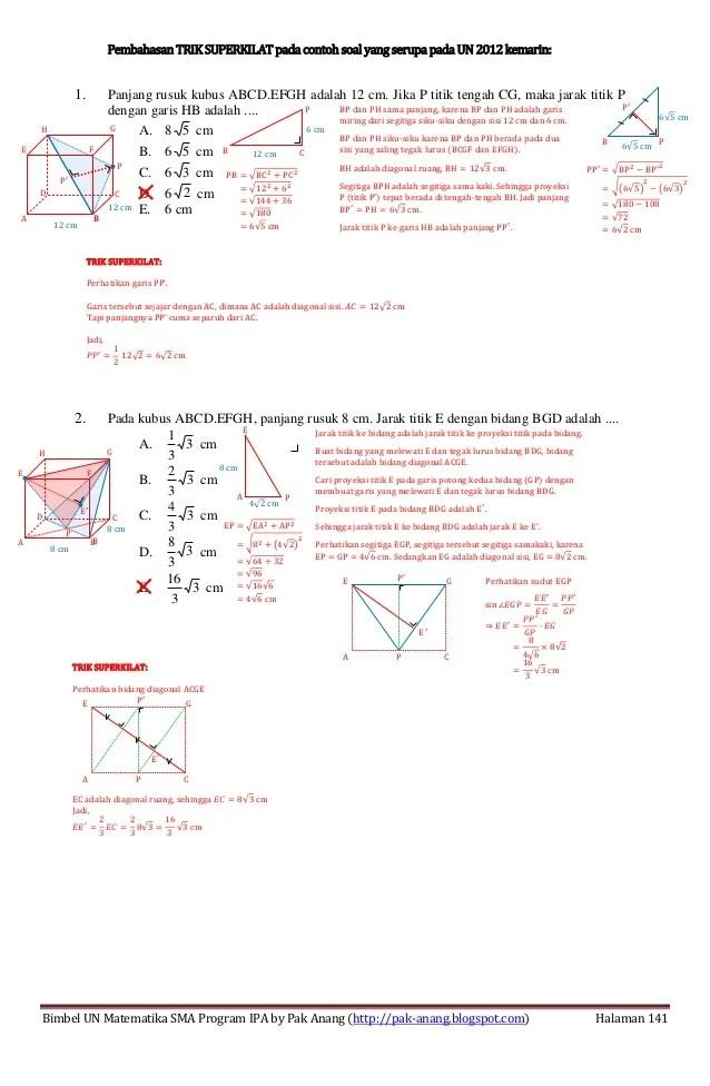 Materi Dimensi Tiga Kelas 12 Kurikulum 2013 : materi, dimensi, kelas, kurikulum, Rumus, Cepat, Dimensi, Kelas, IlmuSosial.id