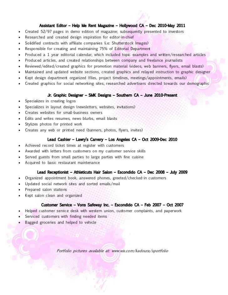 Resume Magazine Editor - Resume Examples | Resume Template
