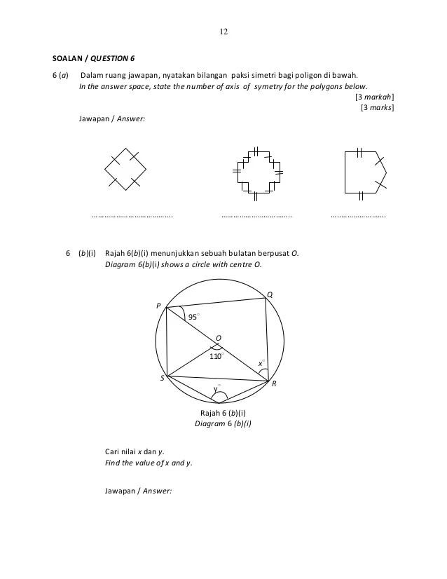 Soalan Matematik Pt3 Cute766