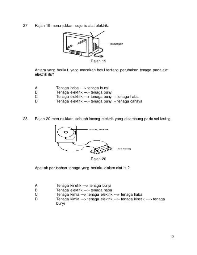 Soalan Latihan Sains Tahun 5 Tenaga Selangor L Cute766