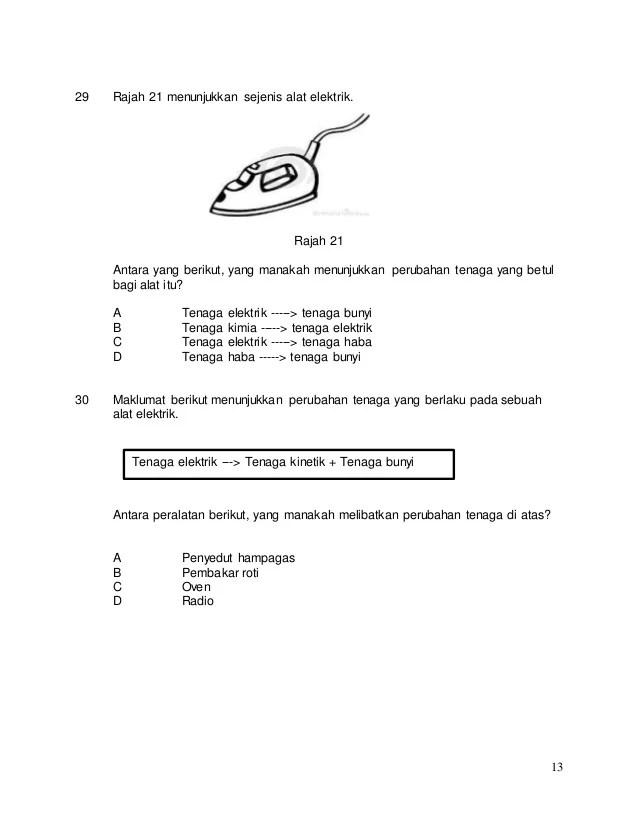 Soalan Sains Tahun 5 Teknologi Selangor Q Cute766