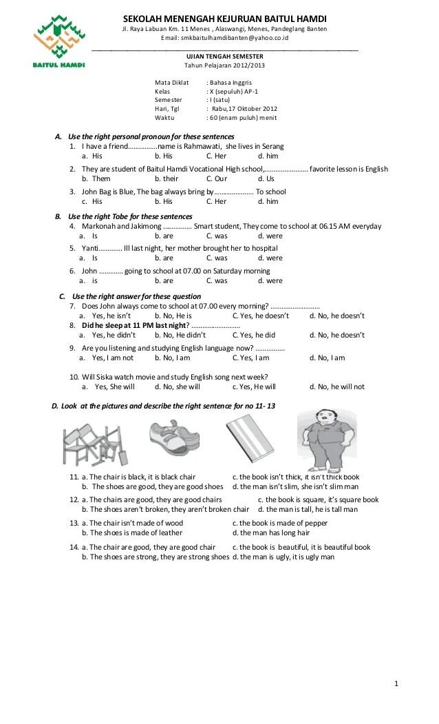 Sekolah Menengah Kejuruan In English : sekolah, menengah, kejuruan, english, Bahasa, Inggris, Baitul, Hamdi, Ganjil-revisi