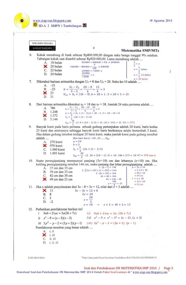 Kumpulan Soal Un Matematika Smp Pdf : kumpulan, matematika, Archives, Motestoryl