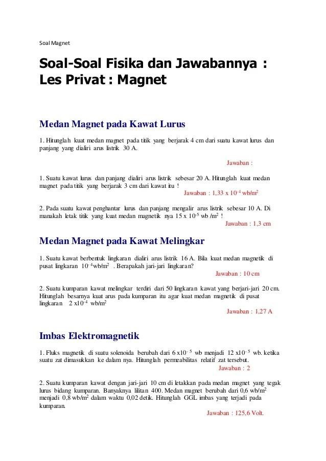 Pertanyaan Tentang Magnet : pertanyaan, tentang, magnet, Magnet