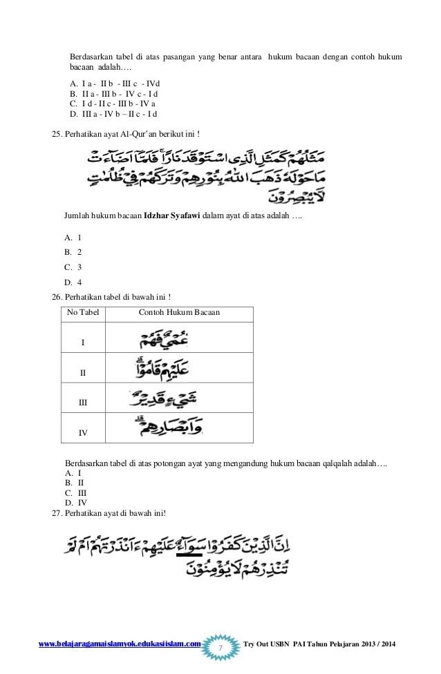 Contoh soal pendidikan agama islam pai kelas 7 lengkap dengan kunci jawabannya a. Contoh Soal Uraian Terbatas Pai